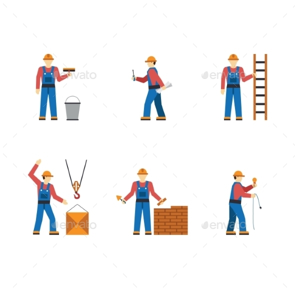 GraphicRiver Construction Workers 10919790