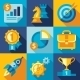 Flat Vector Strategy ,Goal, Development, icon - GraphicRiver Item for Sale