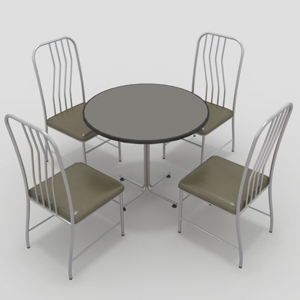 Table with Chairs-8 - 3DOcean Item for Sale