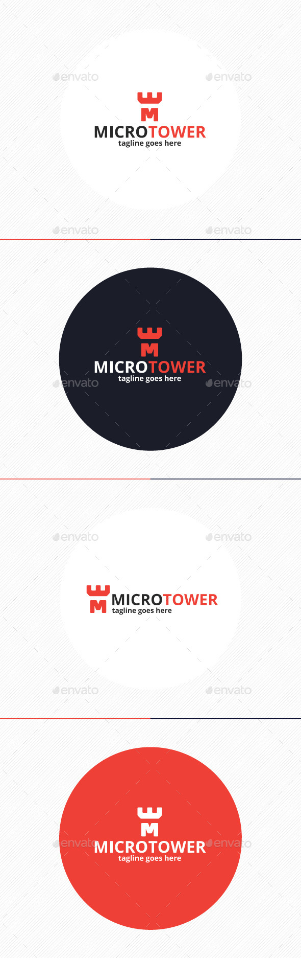 GraphicRiver Micro Tower Logo Letter M 10919815