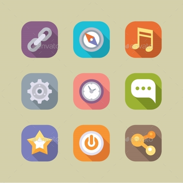 GraphicRiver Social Media Icons Set Mobile Apps 10919818