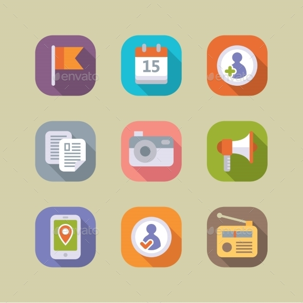GraphicRiver Social Media Icons Set Mobile Apps 10919828
