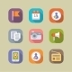 Social Media Icons Set Mobile Apps  - GraphicRiver Item for Sale
