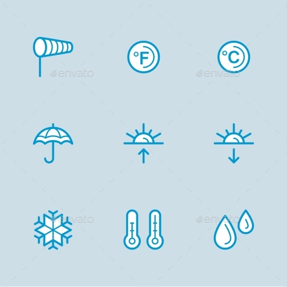 GraphicRiver Weather Icons with White Background 10919865