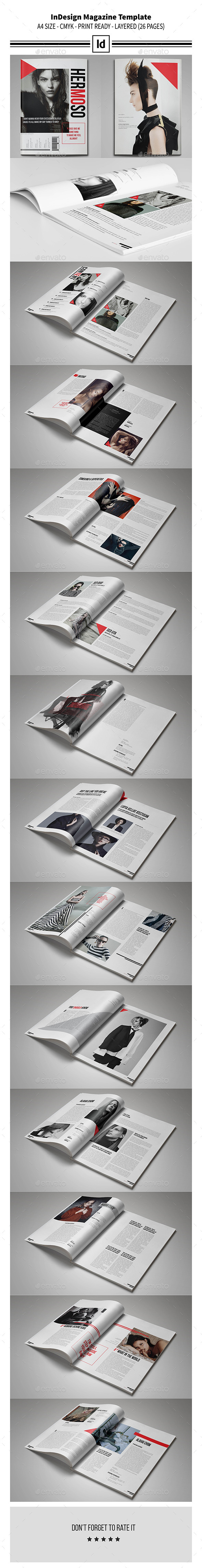 GraphicRiver Multipurpose InDesign Magazine Template 10919884