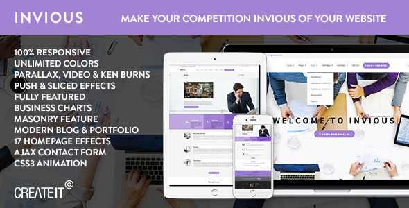 INVIOUS - Clean Responsive Corporate HTML Template