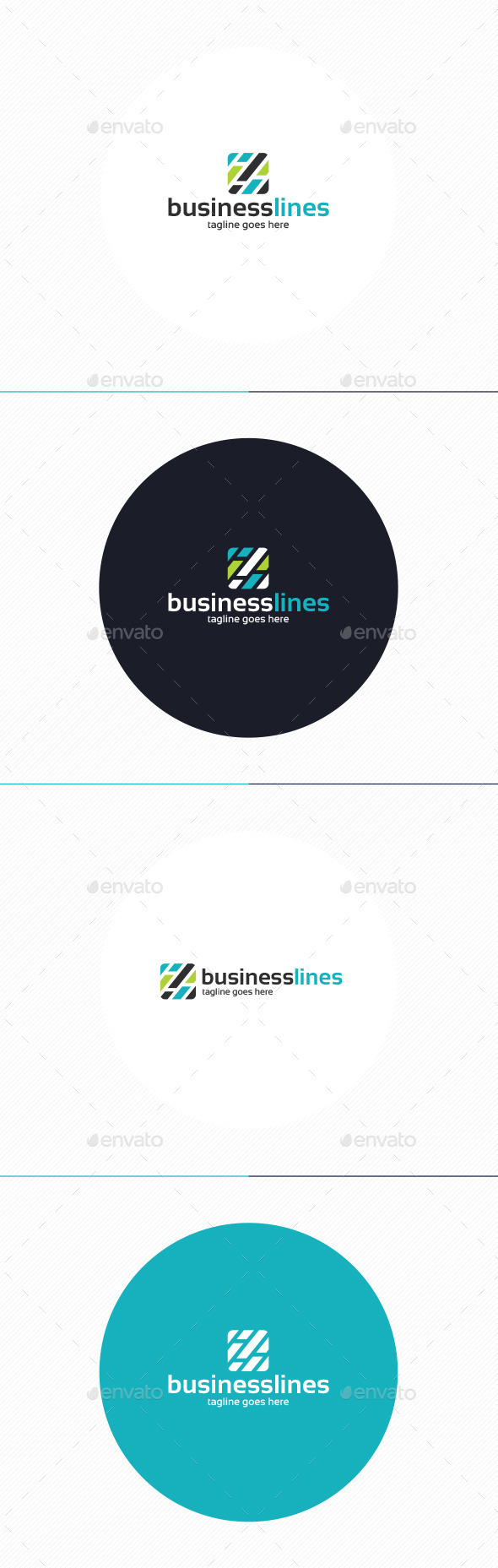 GraphicRiver Business Lines Logo 10919964