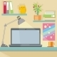 Workplace with Notebook - GraphicRiver Item for Sale