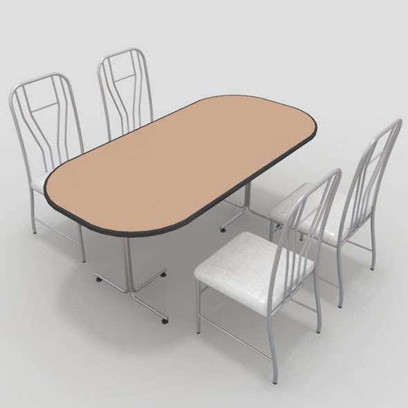 Table with Chairs-9 - 3DOcean Item for Sale