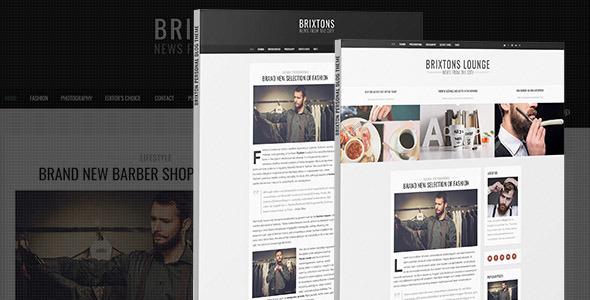 ThemeForest Brixton Minimal & Personal PSD Blog Template 10920151