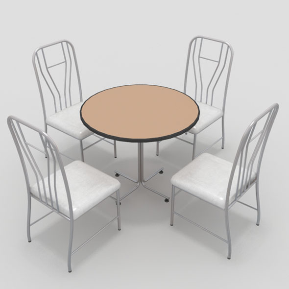 3DOcean Table with Chairs-10 10920153