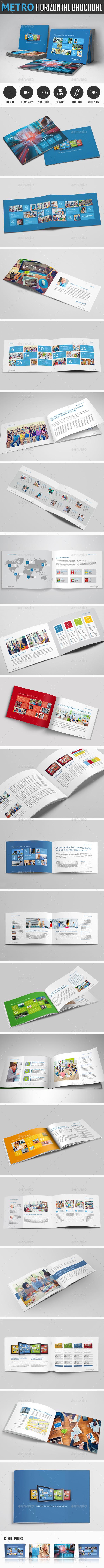 Metro horizontal Brochure - Corporate Brochures