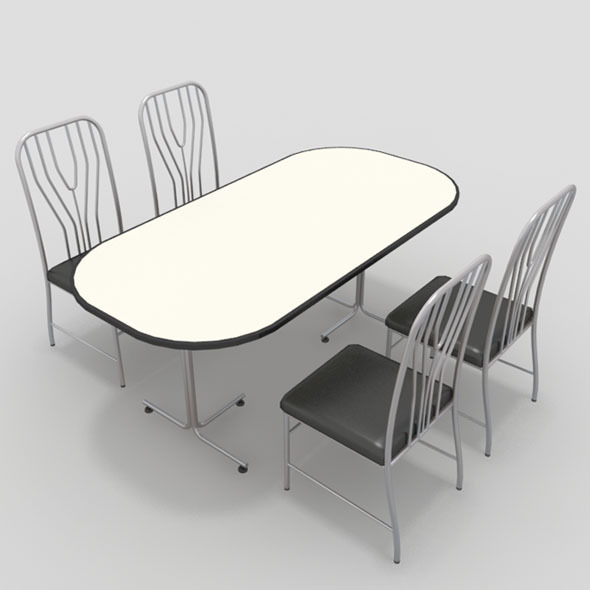 3DOcean Table with Chairs-11 10920284