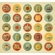 Farm Field Retro Icons