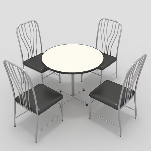 Table with Chairs-12 - 3DOcean Item for Sale