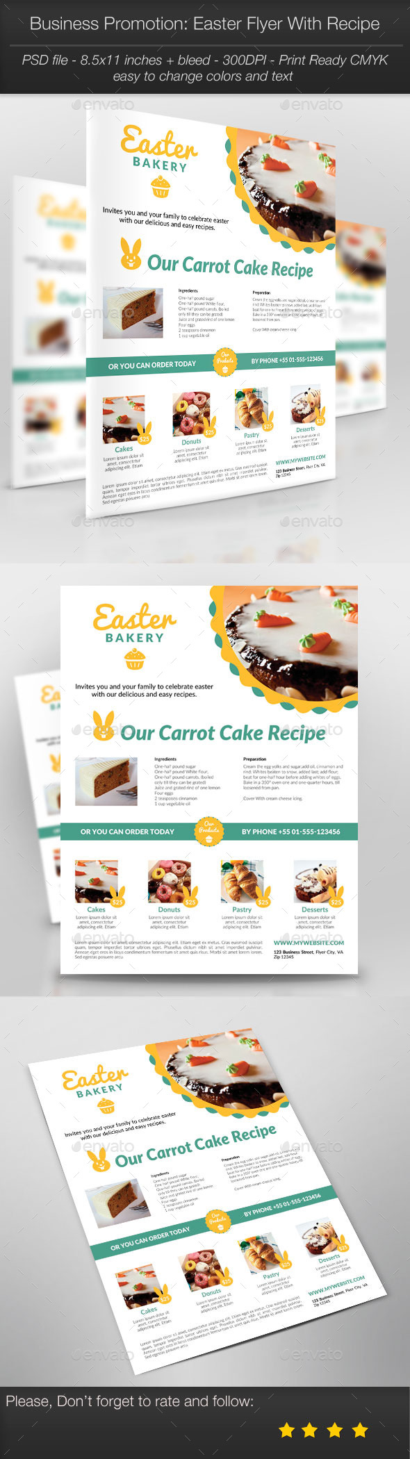 GraphicRiver Business Promotion Easter Flyer With Recipe 10920409