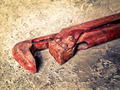old wrench on concrete closeup - PhotoDune Item for Sale