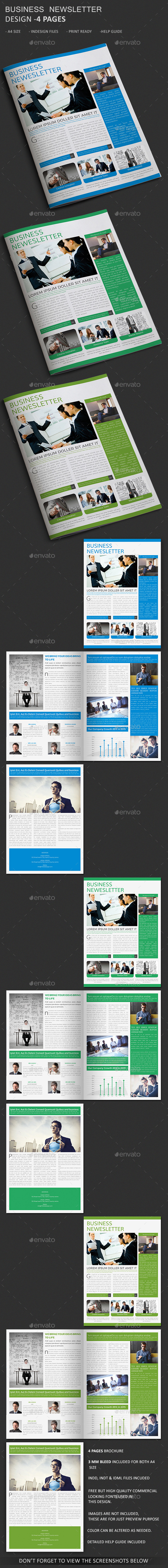 GraphicRiver Business Newsletter Template 4 Pages 10920818