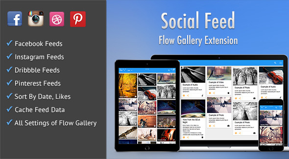 CodeCanyon Social Feed Flow Gallery Exension 10920965