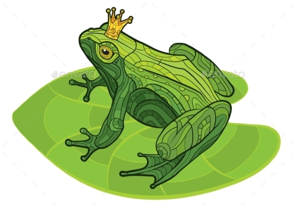 GraphicRiver Frog with Crown on a Leaf 10920967