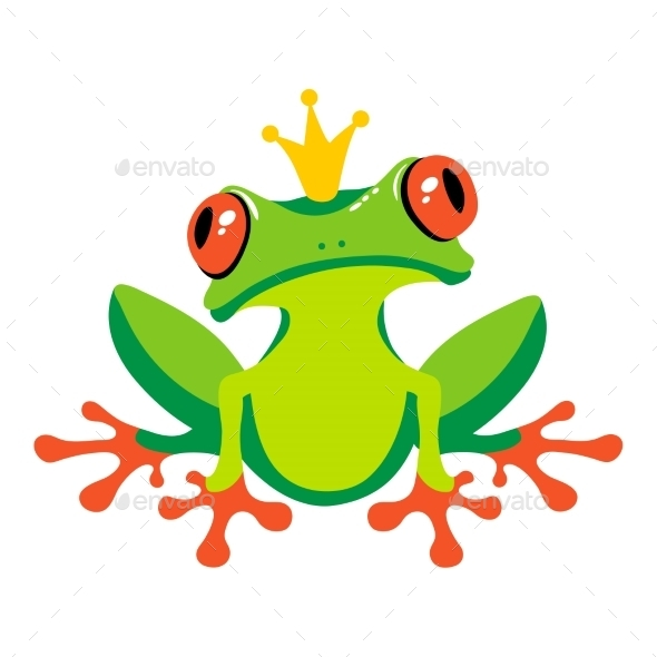 GraphicRiver Cartoon Frog with Crown 10920969