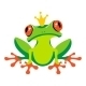 Cartoon Frog with Crown - GraphicRiver Item for Sale