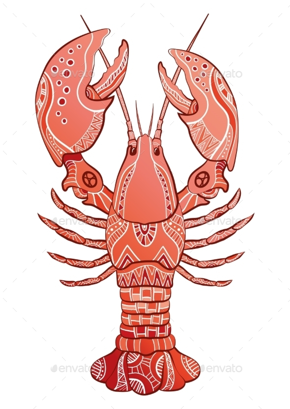 GraphicRiver Decorative Lobster 10920991