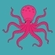 Purple Cartoon Octopus - GraphicRiver Item for Sale