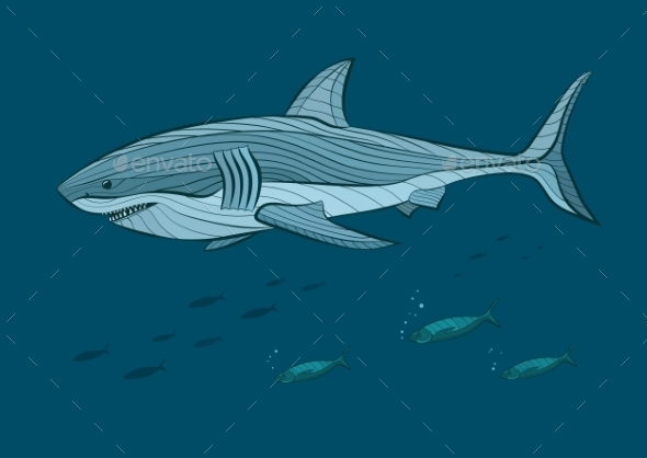 GraphicRiver Decorative White Shark 10921006