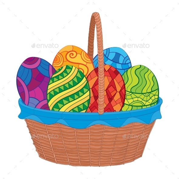 GraphicRiver Easter Eggs in Basket 10921161