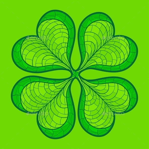 GraphicRiver Decorative Lucky Clover Leaf 10921326