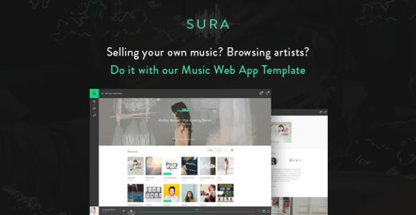 Sura - Music Web App HTML Template