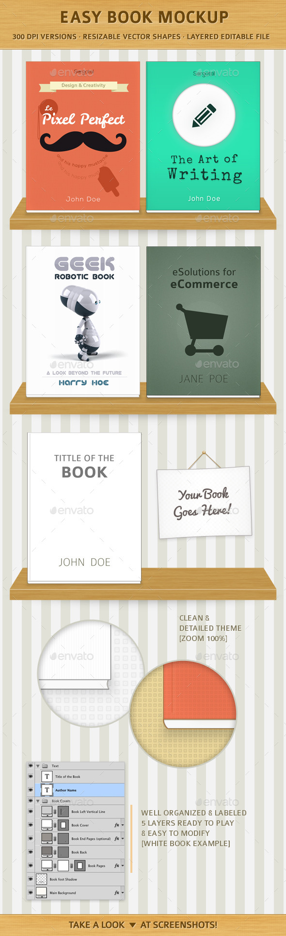 GraphicRiver Easy Book Mock-Ups 10921560