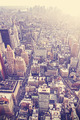 Vintage stylized aerial picture of New York City downtown, USA - PhotoDune Item for Sale