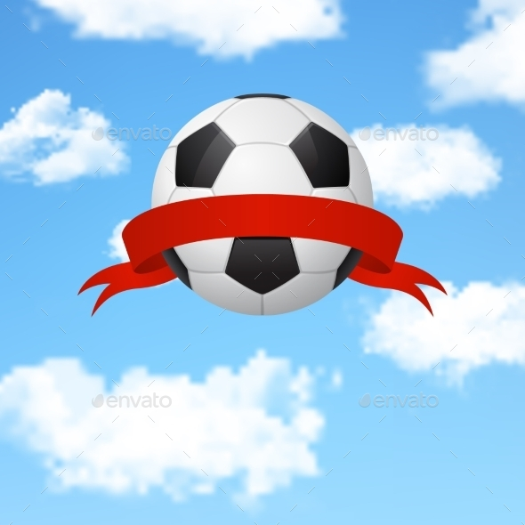 GraphicRiver Soccer Ball with Ribbon 10921597