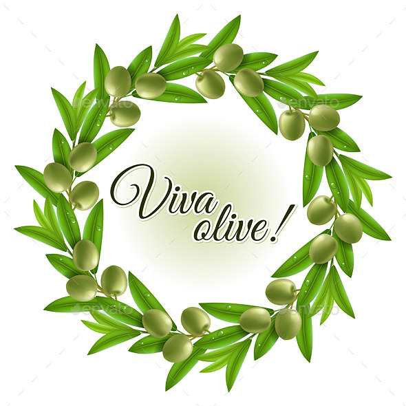 GraphicRiver Olive Wreath 10921790