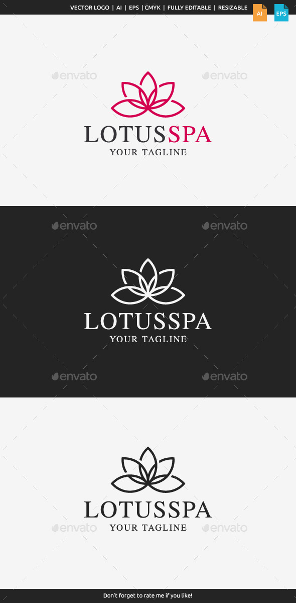 GraphicRiver Lotus Spa Logo 10921831