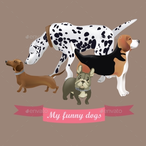 GraphicRiver Cartoon Dogs 10922045