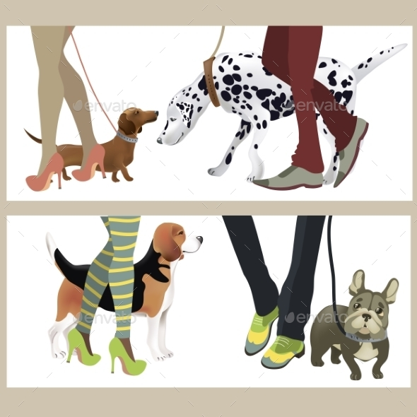 GraphicRiver Dog with Owners 10922051
