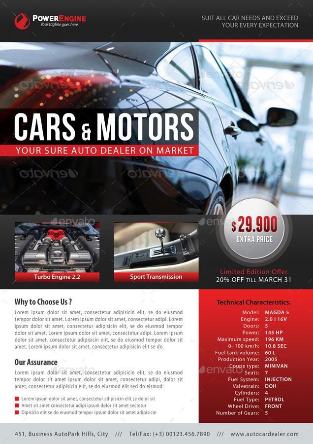 3 in 1 Automotive Car Sale Rental Flyer Bundle by rapidgraf – Car Sale Flyer