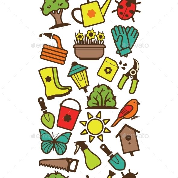 GraphicRiver Garden Tool Border 10922155