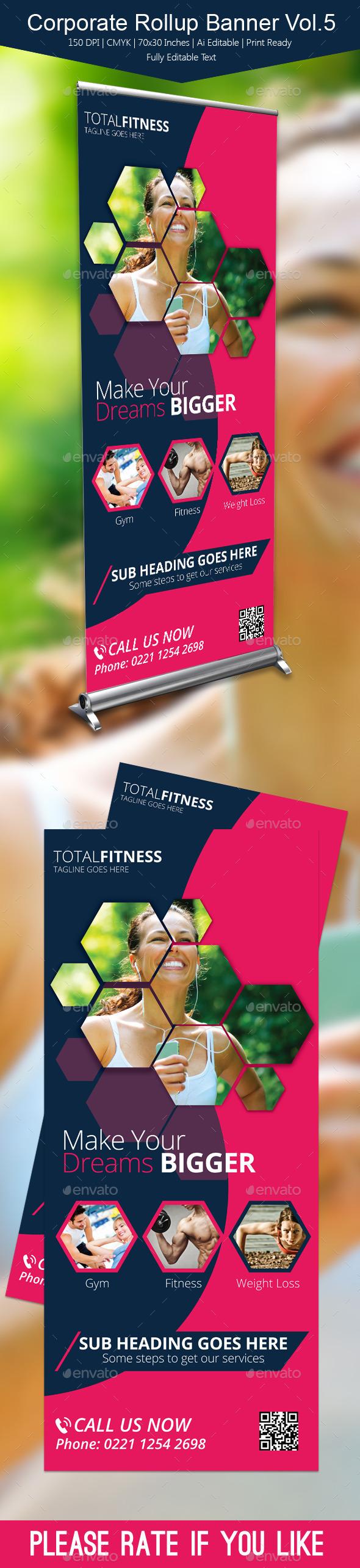 GraphicRiver Corporate Rollup Banner Vol5 10922211