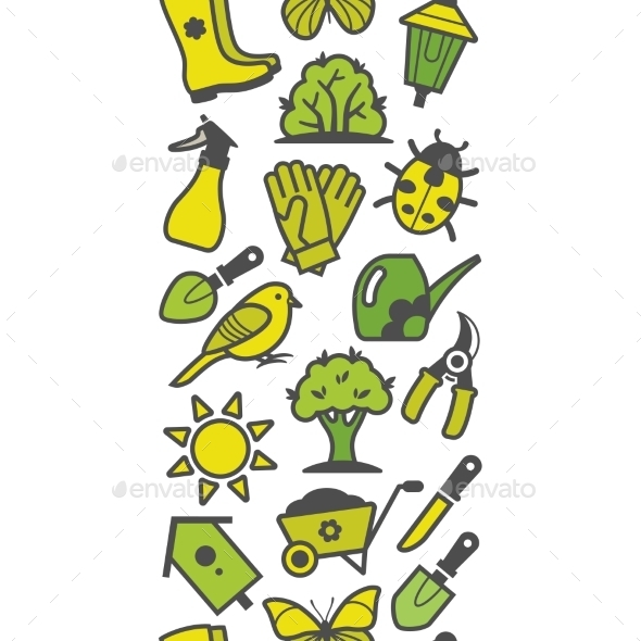 GraphicRiver Garden Tool Pattern 10922245