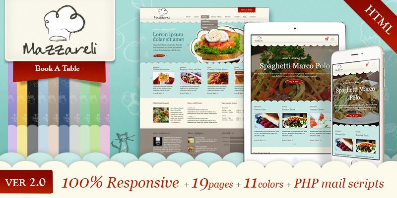 Mazzareli - Restaurant & Cafe HTML Template