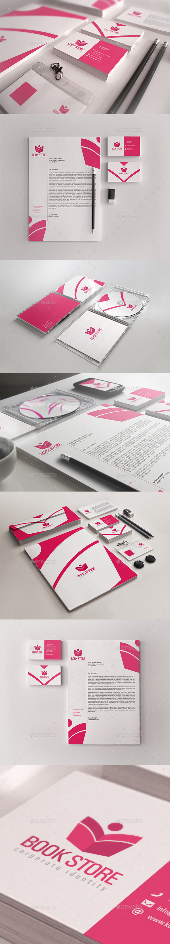 GraphicRiver Book Store Corporate Identity Package 10922412