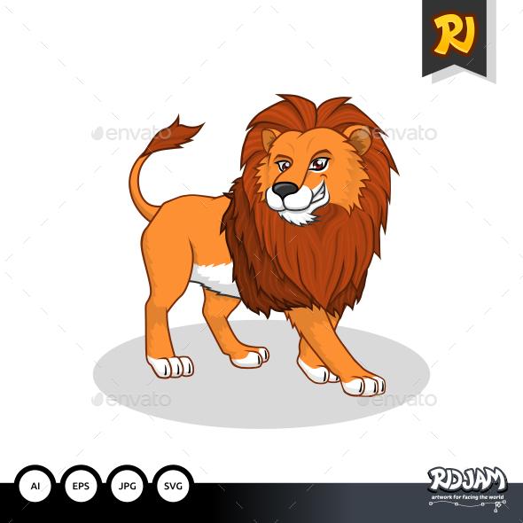 GraphicRiver Lion Cartoon 10922557