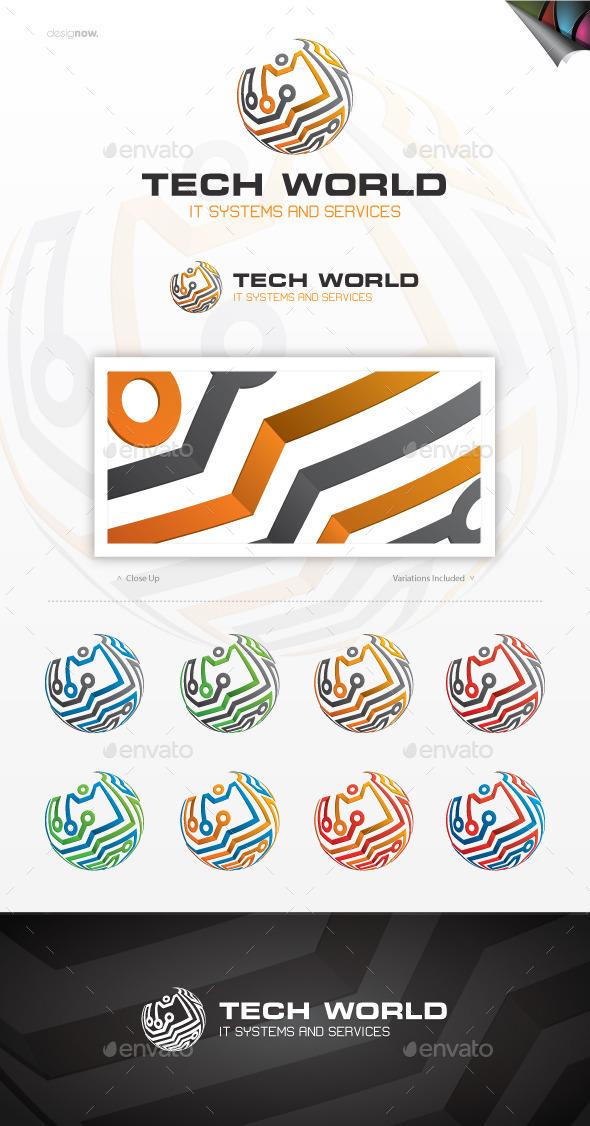 GraphicRiver Tech World Logo 10922577