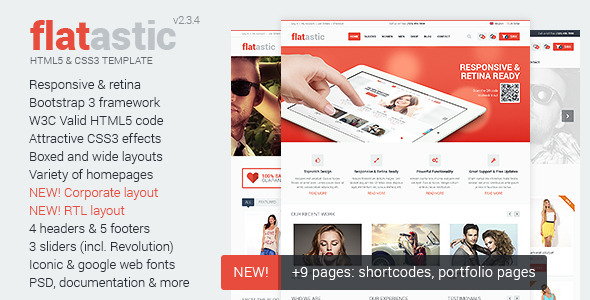 Flatastic - Ecommerce HTML Template - Retail Site Templates