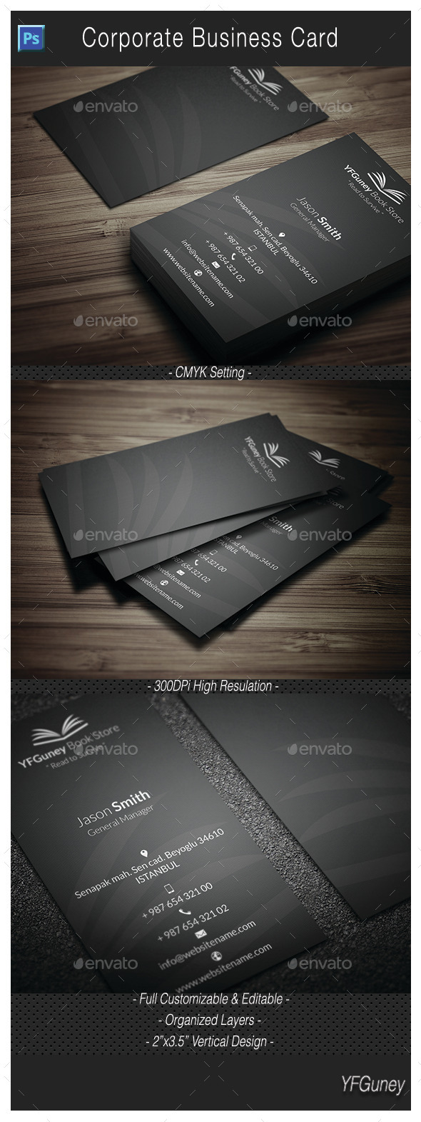 GraphicRiver Corporate Business Card 10922833