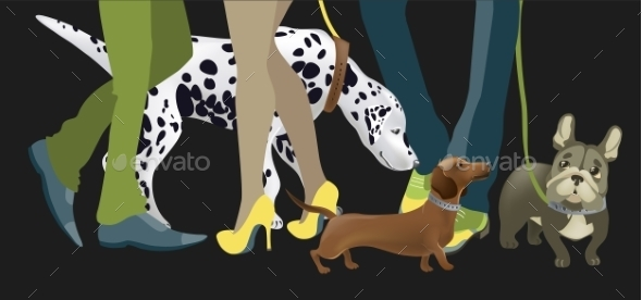 GraphicRiver Dogs with Owners 10922839